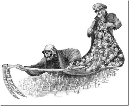Kimmo Palikko Finnish artist taide maalaus postikortti akvarelli cartoon comics graphic creationism evolution Hitler